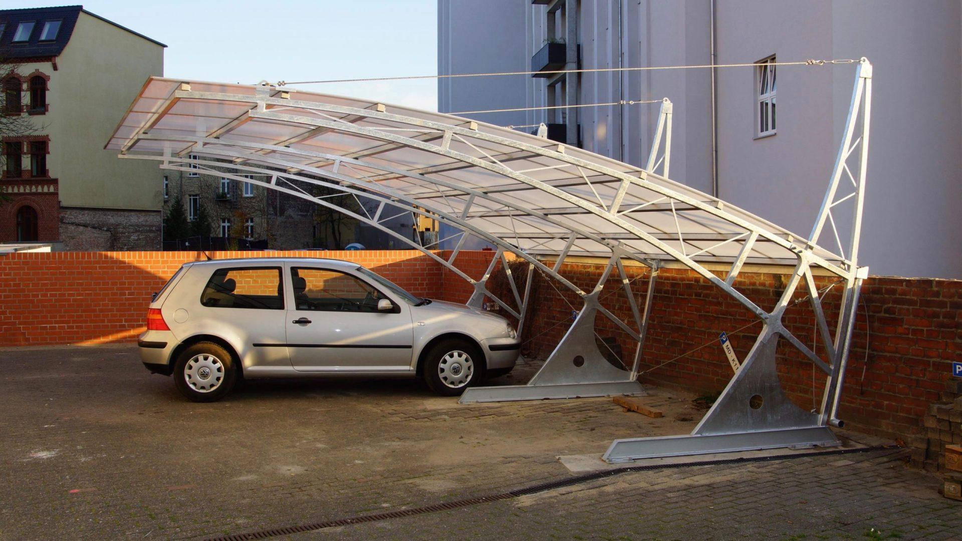 Bogendachcarport - Carportmaster Projekt 15-P-1025 - 39104 Magdeburg - Carportbild 01