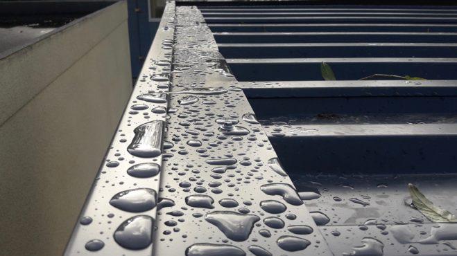 Carport Dachkonstruktion Wasserleitblech