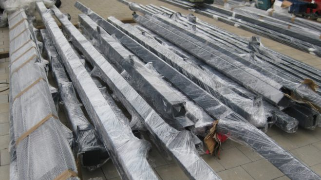 Carport Stahlkonstruktion - Lieferung der Stahlprofile zur Verarbeitung an der Baustelle
