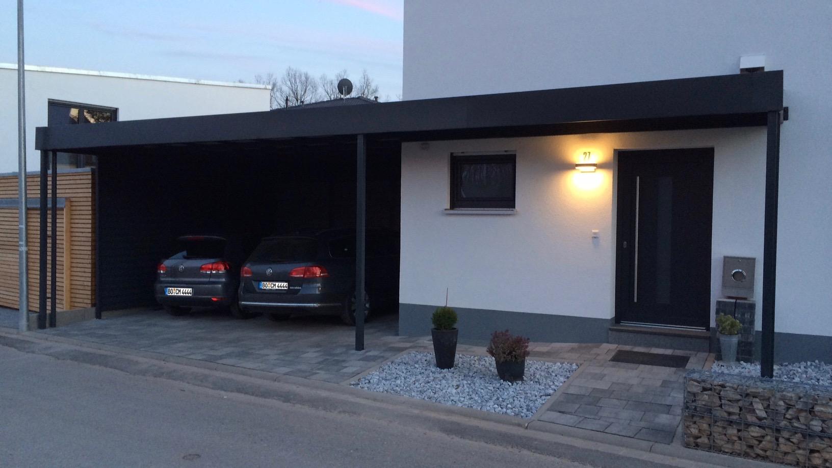 Carport mit Eingangsüberdachung - Carportmaster Projekt 15-P-1016 - 90587 Veitsbronn - Carportbild 01