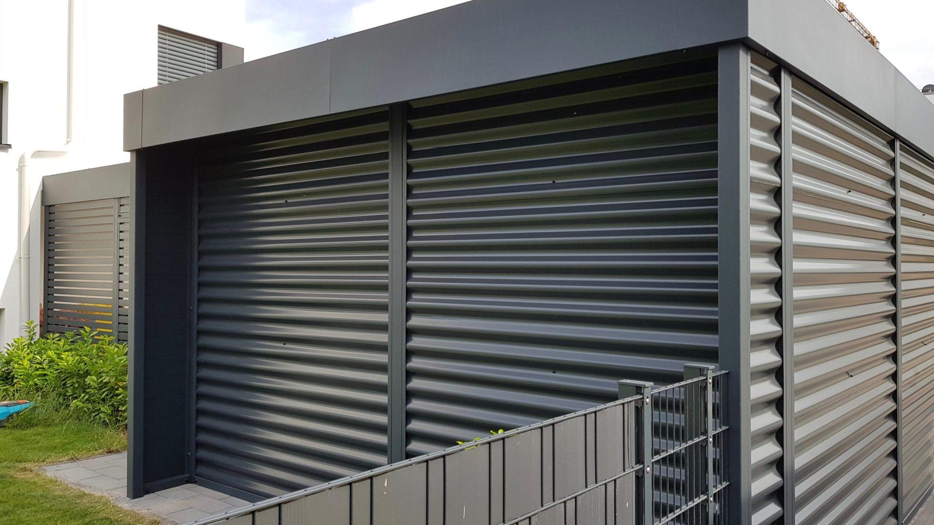 Carport mit Eingangsüberdachung - Carportmaster Projekt 19-P-2332 - 55294 Bodenheim - Carportbild 07