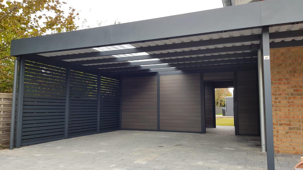 Carport mit Eingangsüberdachung - Carportmaster Projekt 20-C-2754 - 27474 Cuxhaven - Carportbild 02