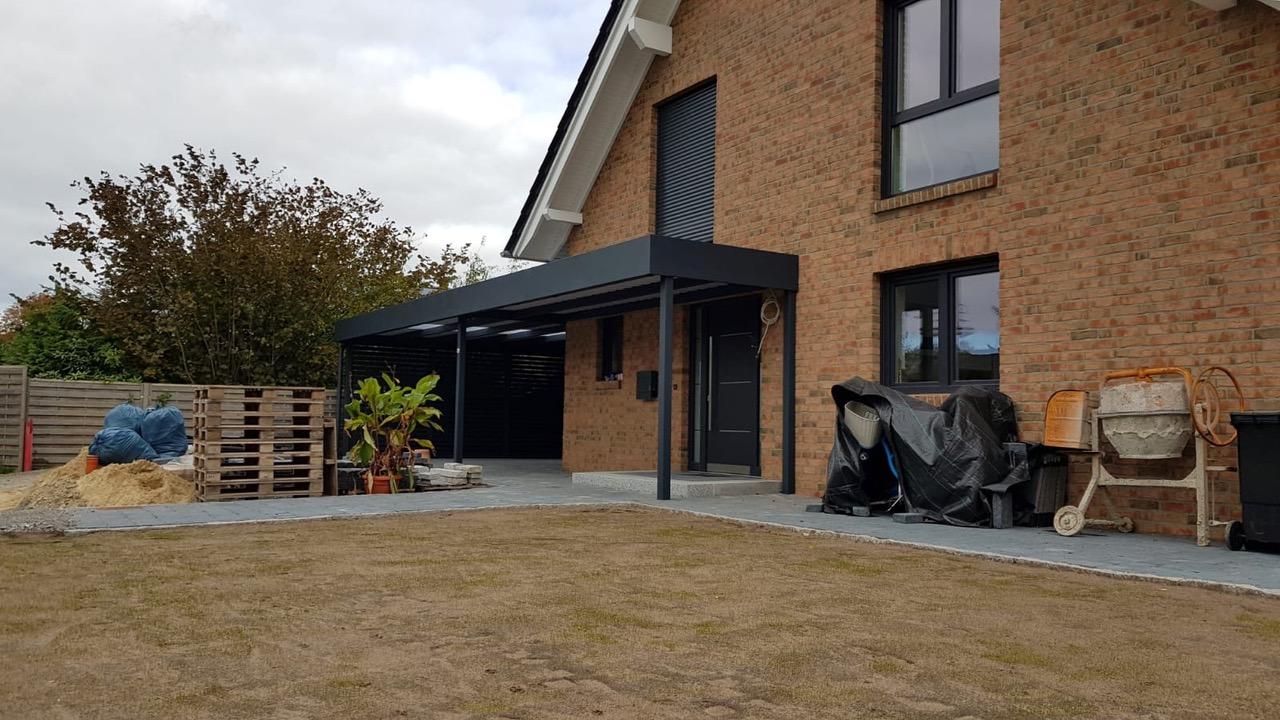 Carport mit Eingangsüberdachung - Carportmaster Projekt 20-C-2754 - 27474 Cuxhaven - Carportbild 03