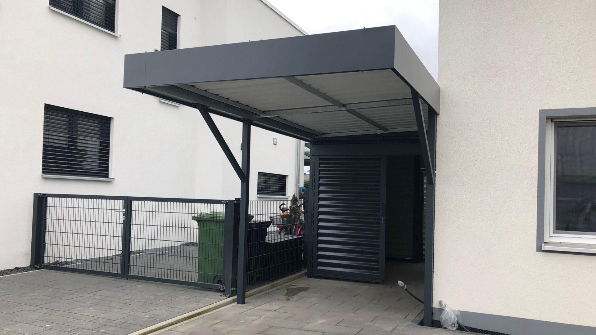 Carport mit Schuppen - Carportmaster Projekt 18-P-2025 - 76689 Karlsdorf - Carportbild 01