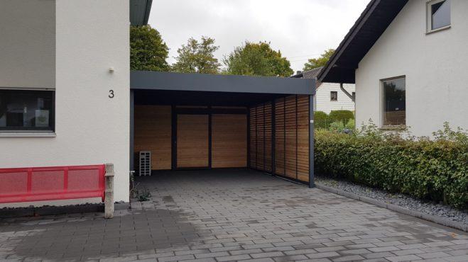 Carport mit Schuppen - Carportmaster Projekt 19-P-2345 - 53947 Nettersheim - Carportbild 01