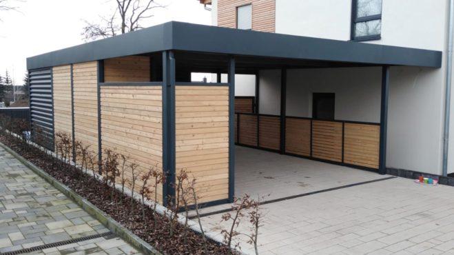 Carport mit Schuppen - Carportmaster Projekt 20-C-2464 - 06886 Lutherstadt - Carportbild 01