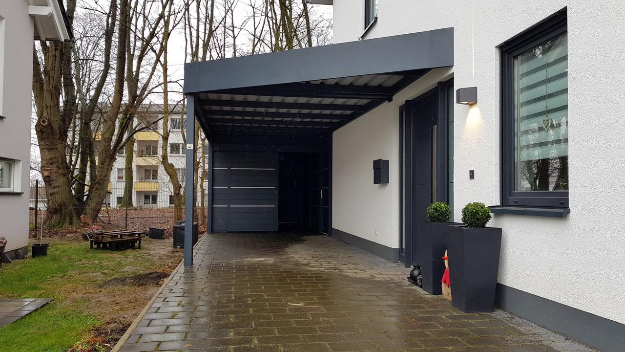 Carport mit Schuppen - Carportmaster Projekt 20-F-2417 - 44265 Dortmund - Carportbild 01