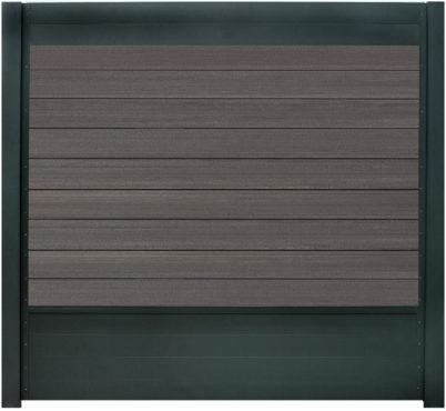 Aluminium RAL 7016 + 9 x WPC graphite