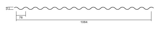Wellblech18-76 technische Zeichnung