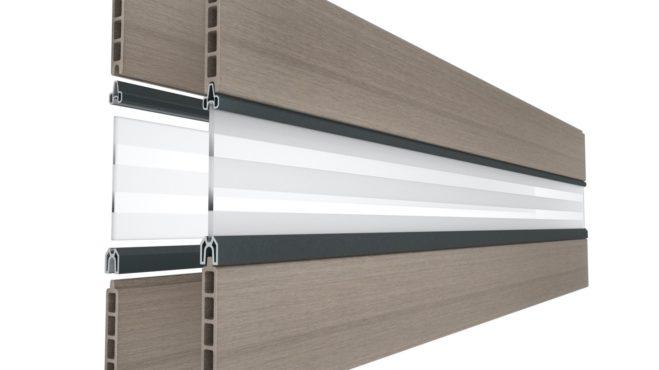 Carport verkleiden mit WPC-Planken Glaseinsatz