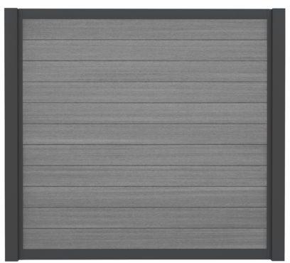 WPC-Planken Hohlkammer-Profil grey-dark
