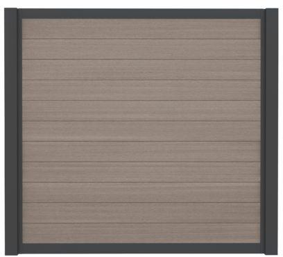 WPC-Planken Hohlkammer-Profil grey-light