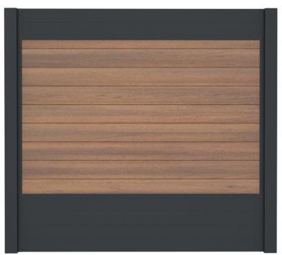 WPC-Planken massiv warm-sienna