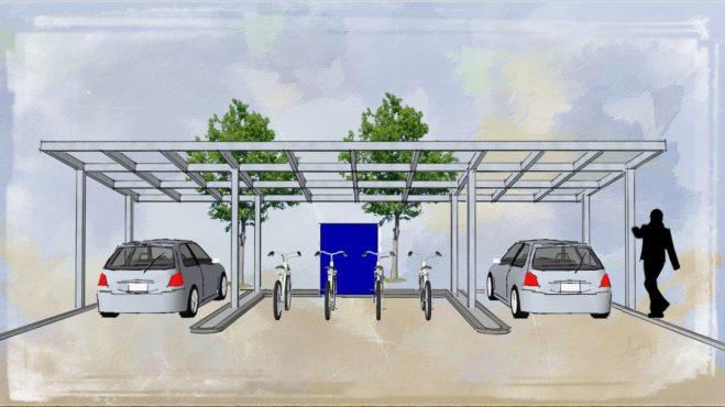 Skizze der E-Mobilitäts-Station