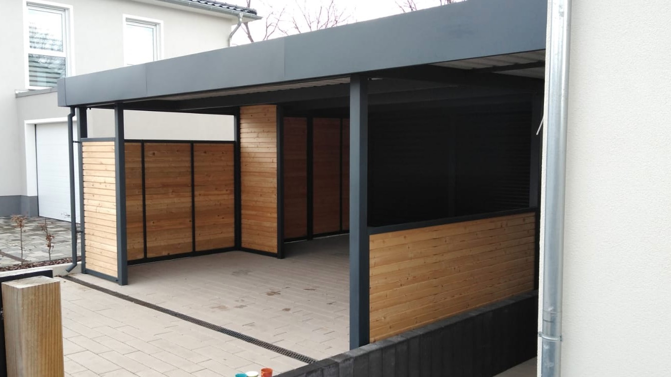 Carport mit Schuppen - Carportmaster Projekt 20-C-2464 - 06886 Lutherstadt - Carportbild 02
