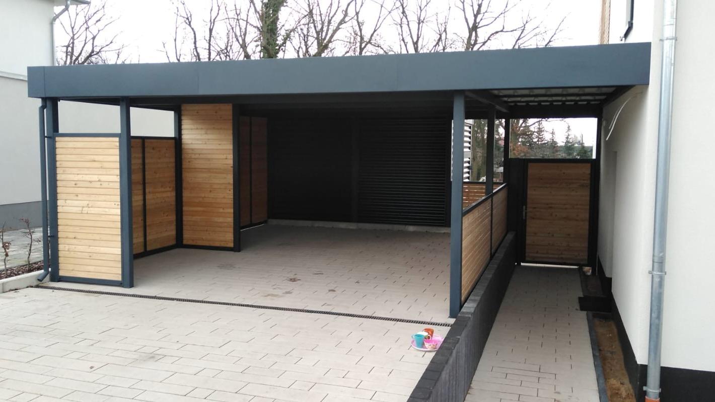 Carport mit Schuppen - Carportmaster Projekt 20-C-2464 - 06886 Lutherstadt - Carportbild 03