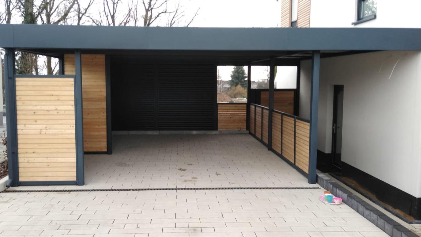 Carport mit Schuppen - Carportmaster Projekt 20-C-2464 - 06886 Lutherstadt - Carportbild 04