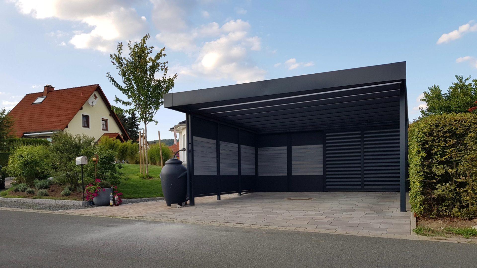 Doppelcarport mit Schuppen - Carportmaster Projekt 15-P-1247 - 95365 Rugendorf - Carportbild 02