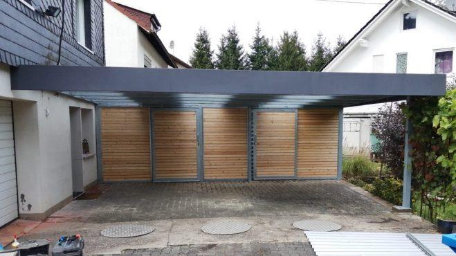 Doppelcarport mit Schuppen - Carportmaster Projekt 20-P-2852 - 57562 Herdorf - Carportbild 01