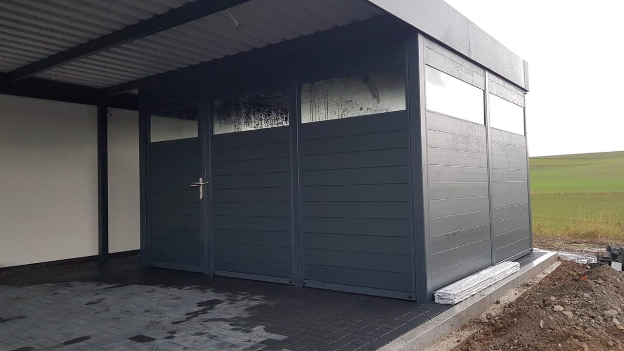 Doppelcarport mit Schuppen - Carportmaster Projekt 20-P-2912 - 38170 Schöppenstedt - Carportbild 03