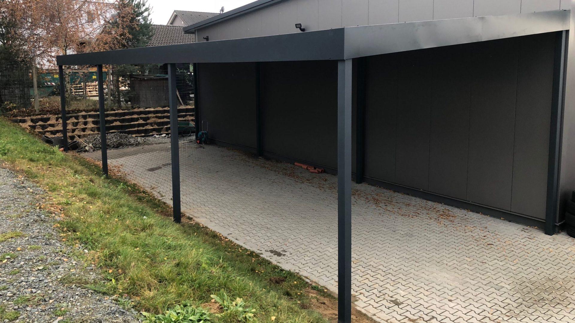 Reihencarport - Carportmaster Projekt 17-P-2019 - 64404 Bickenbach - Carportbild 01