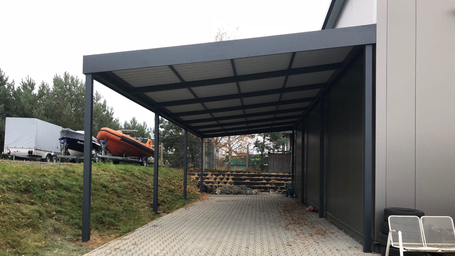 Reihencarport - Carportmaster Projekt 17-P-2019 - 64404 Bickenbach - Carportbild 02