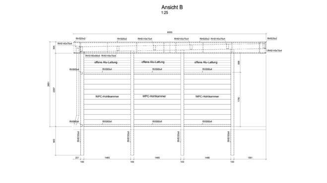 Service CAD - Carport Ansicht B