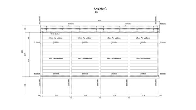 Service CAD - Carport Ansicht C