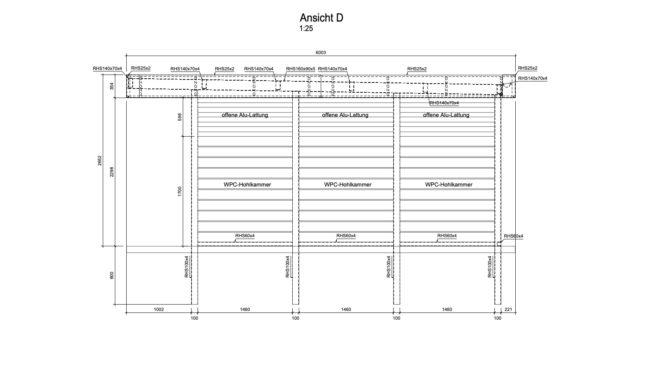 Service CAD - Carport Ansicht D