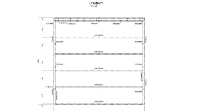 Service CAD - Carport-Ansicht Draufsicht