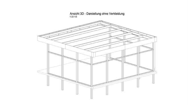 Service CAD - Carport Ansicht C - Konstruktionsdetails