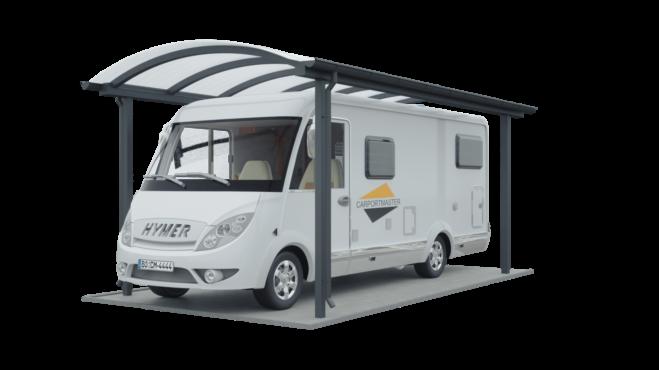 Carport für Wohnmobil mit Bogendach (Tonnendach)