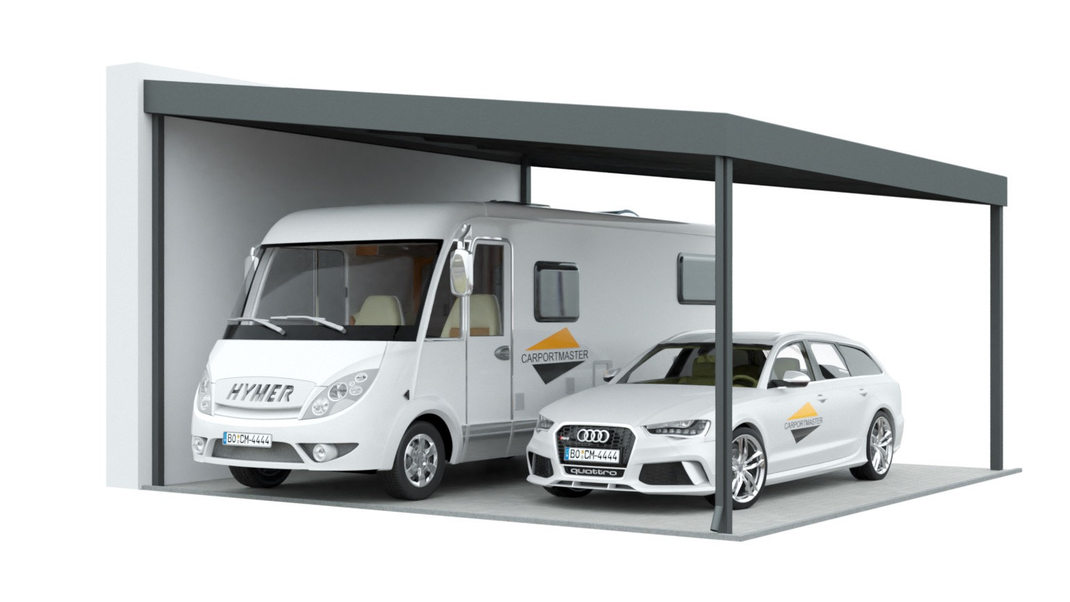 Wohnmobil Carport nach Maß aus Stahl - Carportmaster